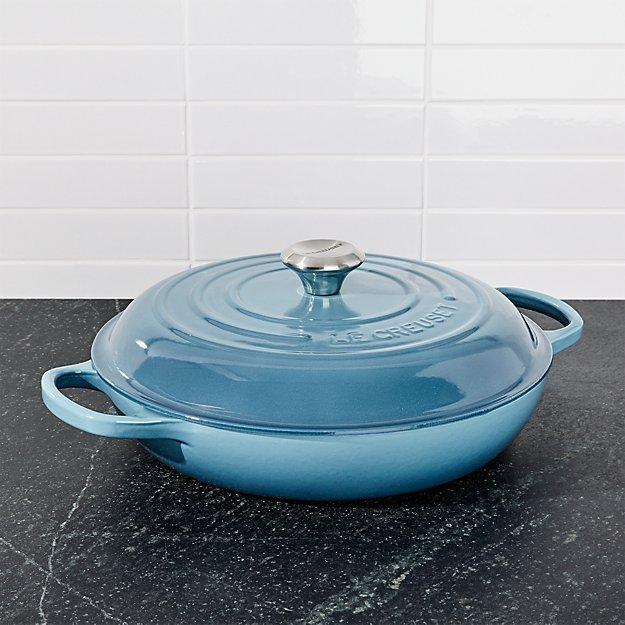 le creuset signature qt marine blue everyday pan