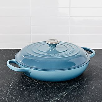Le Creuset ® Signature 3.75 qt. Marine Blue Everyday Pan