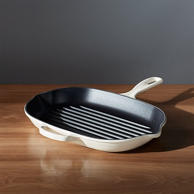 Le Creuset ® Signature Oblong Cream Grill Pan