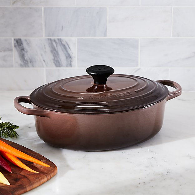 Le Creuset ® Signature 3.5-Qt. Oval Truffle Brown French Oven with Lid