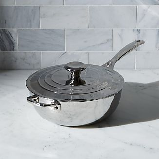 Le Creuset ® Signature 3.5 qt. Stainless Steel Saucier with Lid