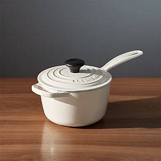 Le Creuset ® Signature 1.75 qt. Cream Saucepan with Lid