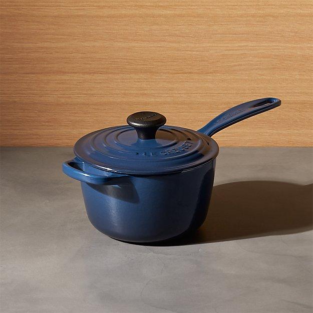 le creuset signature qt ink saucepan with lid crate and barrel. Black Bedroom Furniture Sets. Home Design Ideas