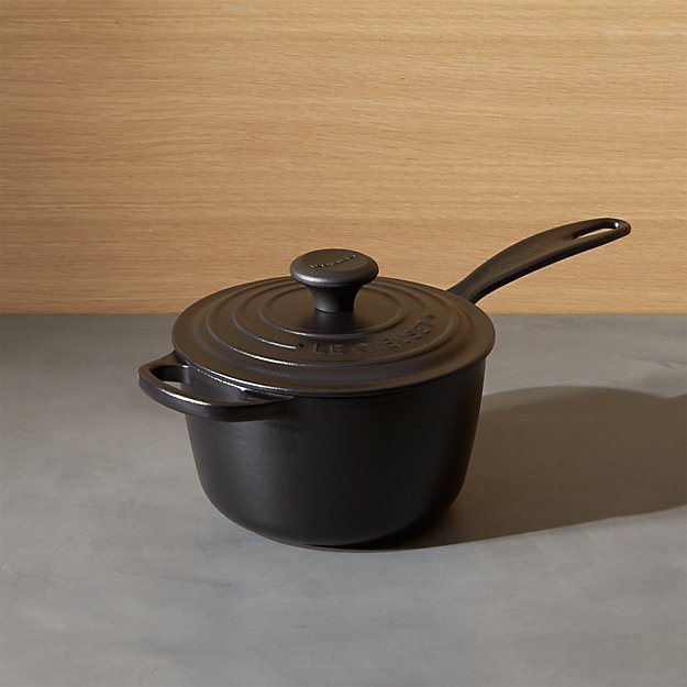 le creuset signature qt licorice saucepan with lid. Black Bedroom Furniture Sets. Home Design Ideas