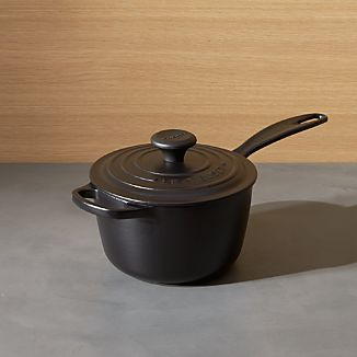 Le Creuset ® Signature 1.75 qt. Licorice Saucepan with Lid