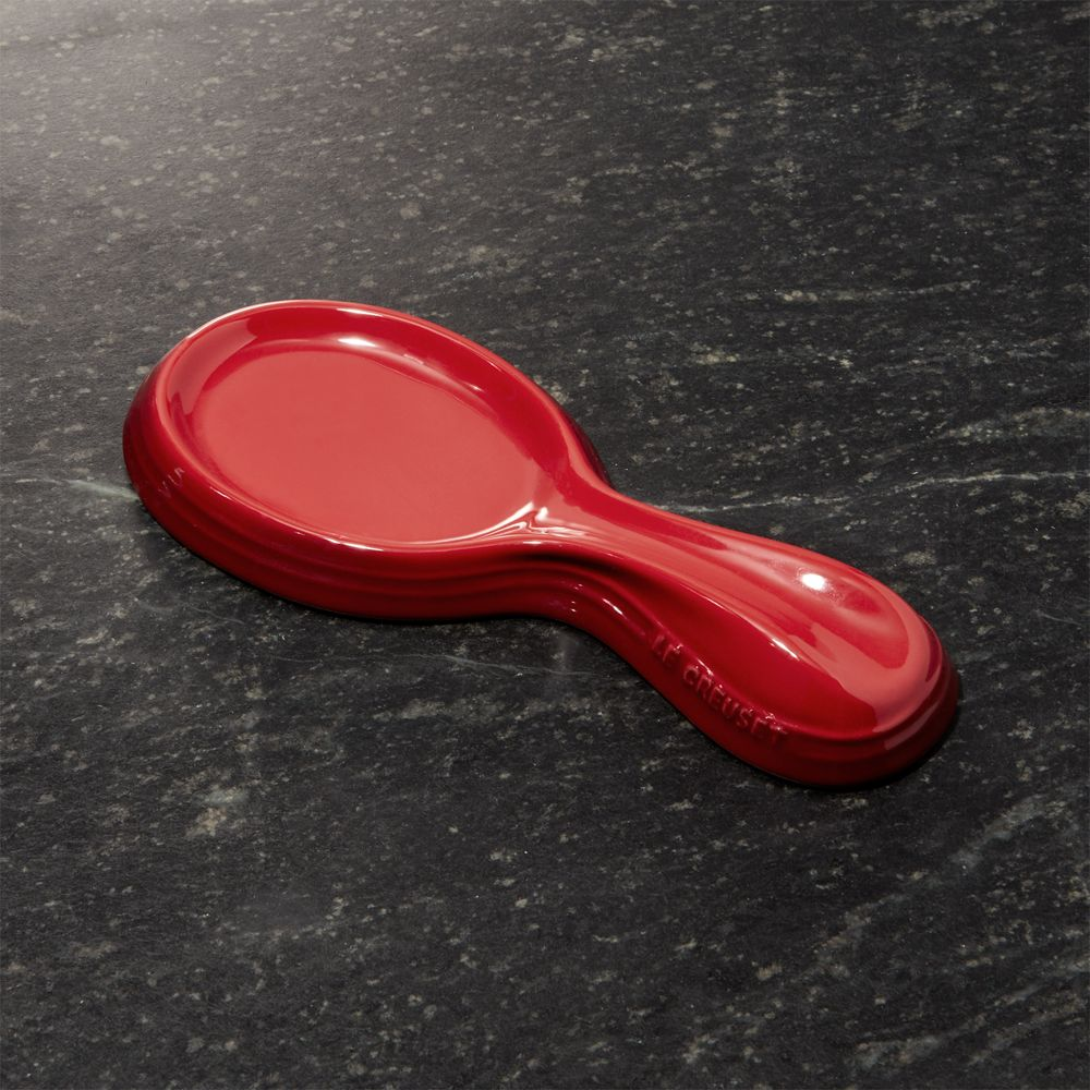Le Creuset ® Cerise Red Ceramic Spoon Rest - Crate and Barrel