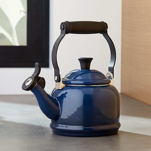 Le Creuset 174 1 25 Qt Demi Ink Tea Kettle Crate And Barrel