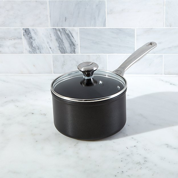 le creuset toughened nonstick 2 qt sauce pan with lid. Black Bedroom Furniture Sets. Home Design Ideas