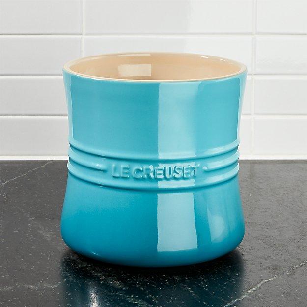 Le Creuset ® 2.75 Qt Carribean Blue Utensil Crock