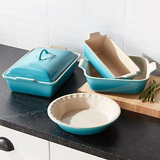 Le Creuset ® Caribbean 5-Piece Stoneware Set & Oven to Tableware | Crate and Barrel
