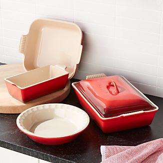 Le Creuset ® Cerise 5-Piece Stoneware Set & Le Creuset Stoneware | Crate and Barrel