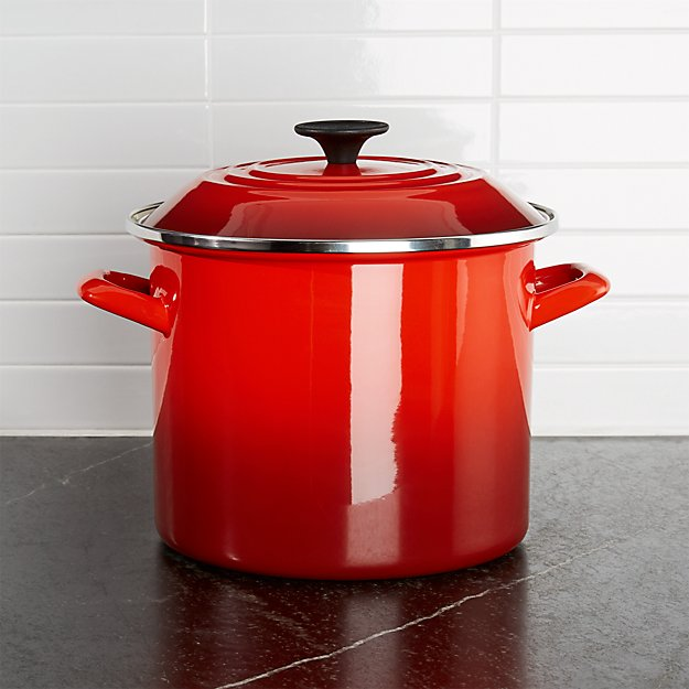 Le Creuset ® 8-Qt. Cerise Red Enamel Stock Pot with Lid