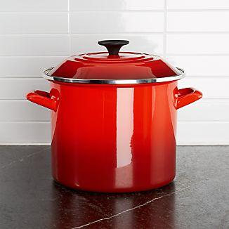 Le Creuset ® 8-Qt. Cerise Red Enamel Stock Pot with Lid