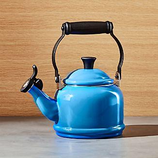 Le Creuset © 1.25-Qt. Demi Marseille Blue Tea Kettle