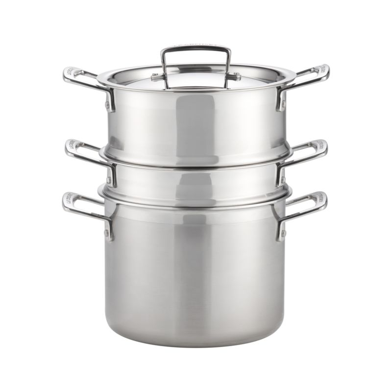Le Creuset 5.25 qt. Stainless Steel Multipot + Reviews | Crate and ...