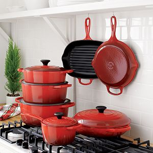 Le Creuset ® Signature Oblong Cherry Red Grill Pan