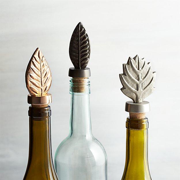 Leaf Bottle Stoppers, Set of 3