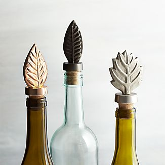 Leaf Bottle Stoppers, Set of 3