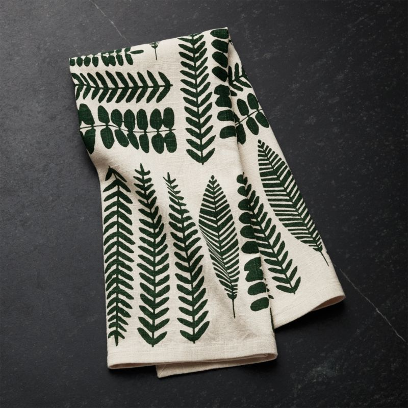 Leaf Bunches Dish Towel by Crate&Barrel