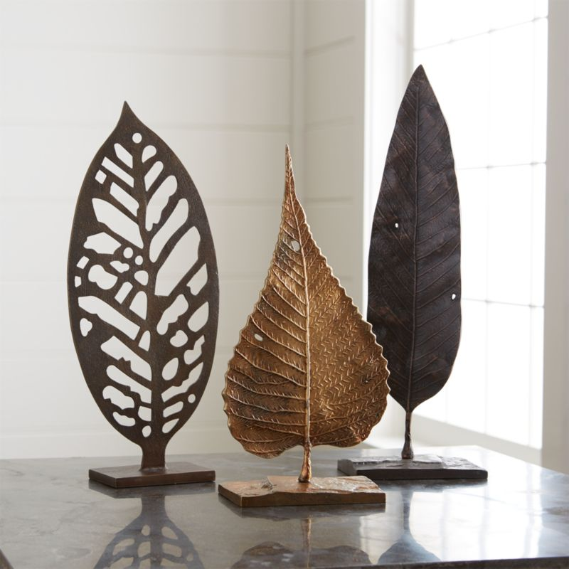 Metal Leaf Sculptures Crate And Barrel