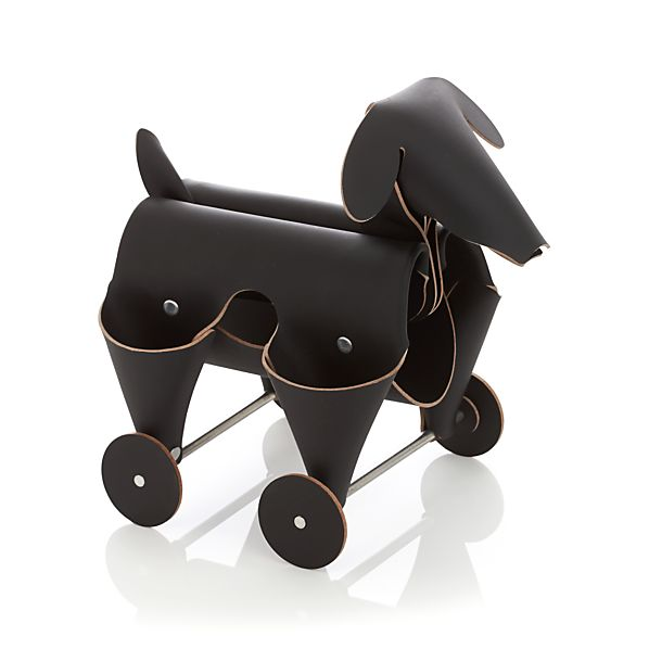 Leather Dog Desk Organizer