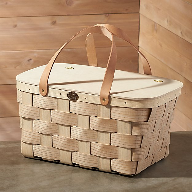 Leather-Handled Picnic Basket
