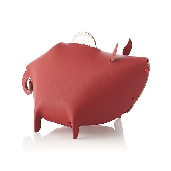 Leather Piggy Bank