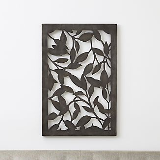 Leaves Indoor/Outdoor Metal Wall Art & Metal Wall Art | Crate and Barrel