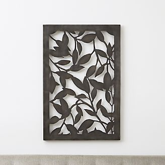Leaves Indoor/Outdoor Metal Wall Art