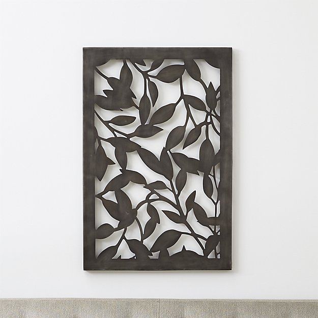 outdoor metal wall art Leaves Indoor/Outdoor Metal Wall Art + Reviews | Crate and Barrel outdoor metal wall art