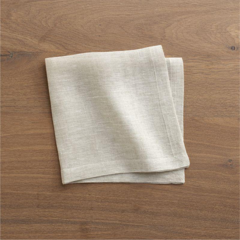Natural linen napkin coordinates with any and every table setting.<br /><br /><NEWTAG/><ul><li>100% linen</li><li>Machine wash, tumble dry; warm iron as needed</li><li>Made in India</li></ul>