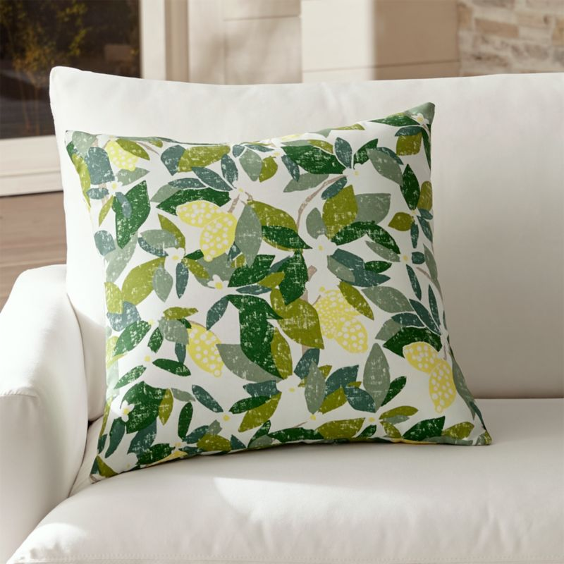 Lemons 20 Quot Sq Outdoor Pillow Crate And Barrel