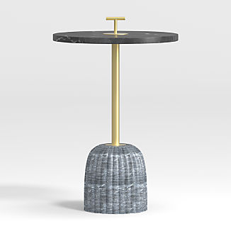 Leni Carved Marble Drink Table