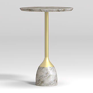 Leni Grey Marble Drink Table