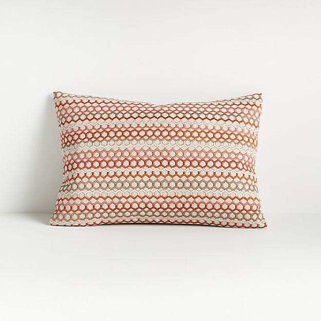 """Lesha Embroidered Pillow 12""""x18"""" - Image 1 of 5"""