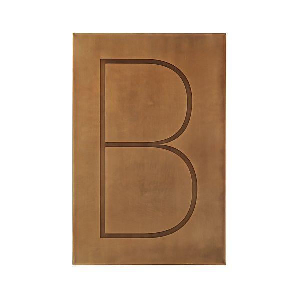 Brass Letter B Wall Art