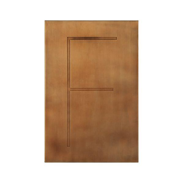 Brass Letter F Wall Art