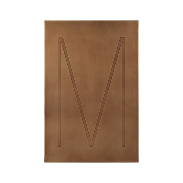 Brass Letter M Wall Art
