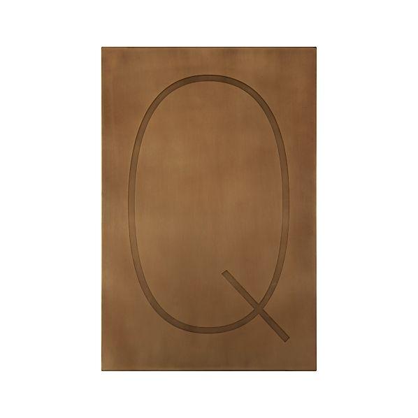 Brass Letter Q Wall Art