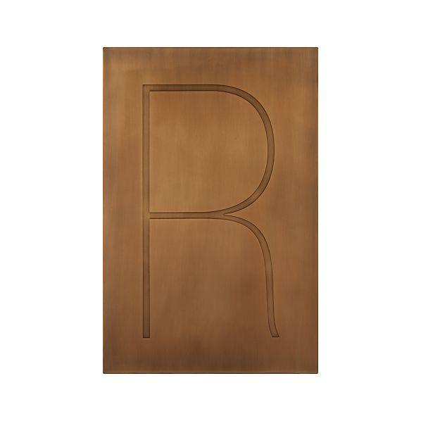 Brass Letter R Wall Art