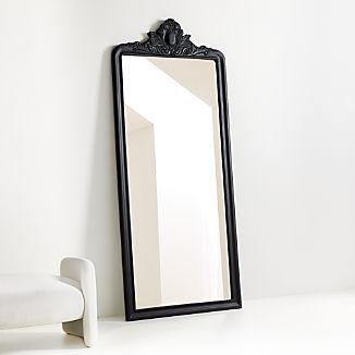 Levon Carved Wood Floor Mirror