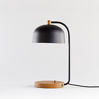 Lex Black Dome USB Desk Lamp