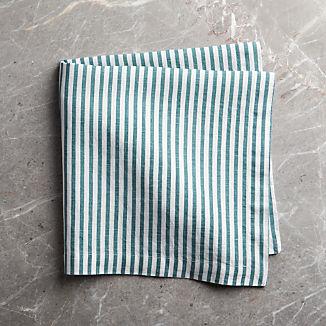 Liam Linen Blue-Striped Napkin