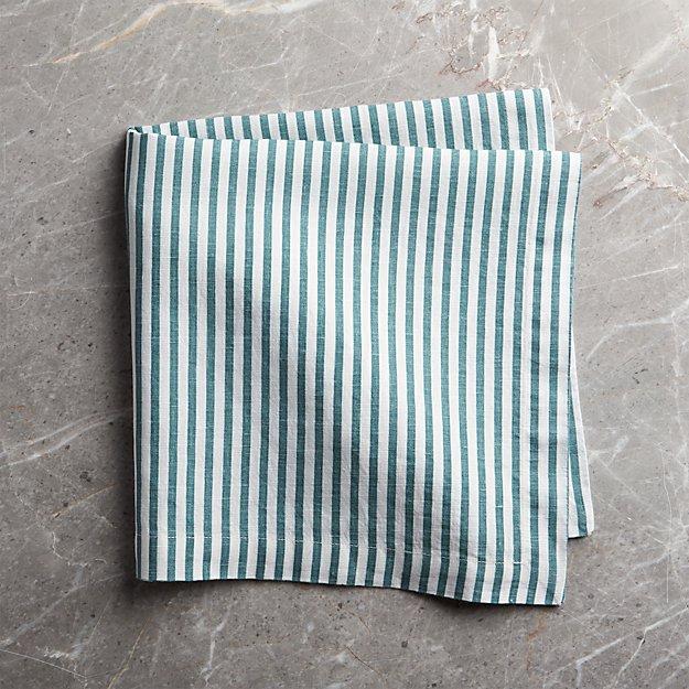 db3f407c4012 Liam Linen Blue-Striped Napkin + Reviews