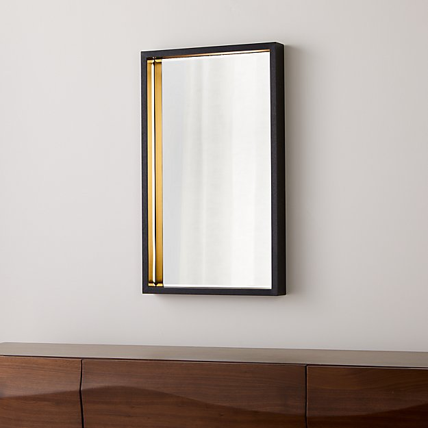 Liam Black Framed Wall Mirror - Image 1 of 4