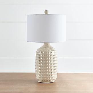 Liana Ivory Textured Table Lamp