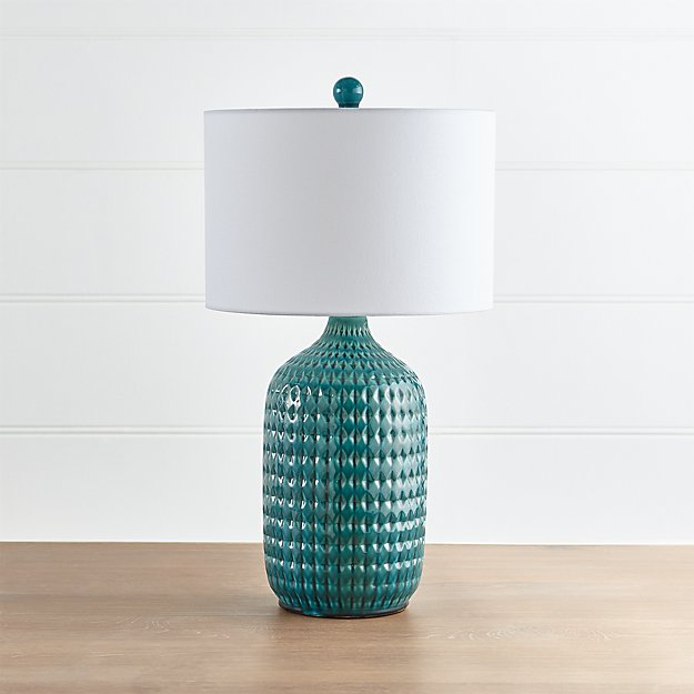 Lamp Plus Stores: Liana Teal Textured Table Lamp + Reviews