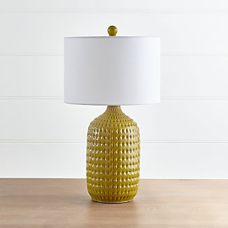 Liana Yellow Textured Table Lamp