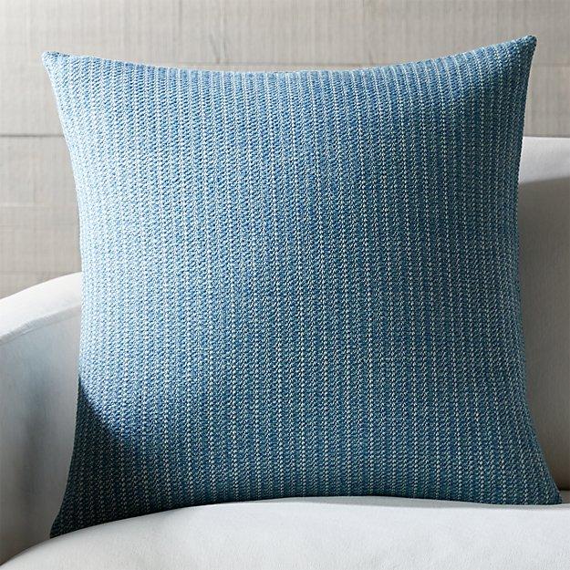 "Liano Azure Monochrome Pillow 23"" - Image 1 of 4"