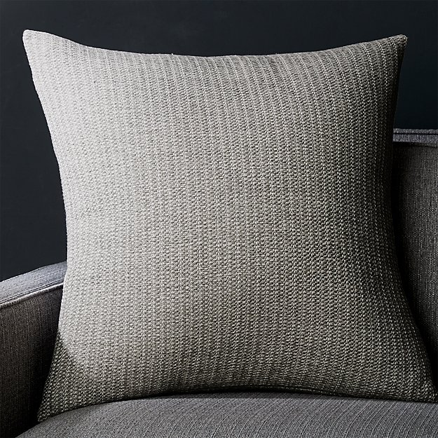 "Liano 23"" Grey Monochrome Pillow - Image 1 of 8"